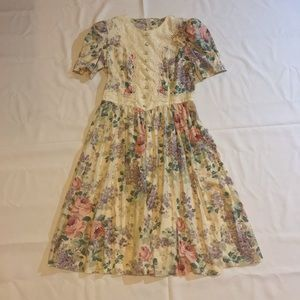 Lisa Petites Vintage iconic 80's floral dress rare